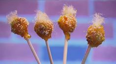 Dani Venn's Lychee Toffee Pops recipe from Masterchef Australia All Stars. My favourite of the dishes cooked so far on the show. They make me think of troll dolls!