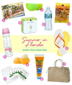 wedding welcome bag for your out of town guest. Also include a wedding itinerary. Maps and local attractions for them
