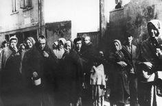 A crowd of Jews in the Radom ghetto, Poland.