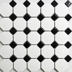 tuile de mosaïque en noir et blanc mat puzzle parquet carrelage mural salle de bain carreaux de céramique plancher miroir mural dosseret de cuisine