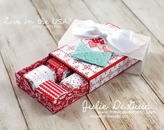 Matchbox Valentine's by Julie DeGuia - Cards and Paper Crafts at Splitcoaststampers Valentine Treats, Valentine Day Cards, Candy Crafts, Paper Crafts, 3d Paper, Treat Holder, Treat Box, Giveaway, Little Gifts