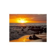 Sunset, Kihei, Maui, Hawaii, USA Photographic Wall Art Print (350 NOK) ❤ liked on Polyvore featuring home, home decor, wall art, photography wall art, sunset wall art, interior wall decor, mounted wall art and home wall decor