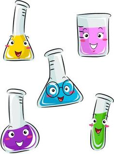 Chemistry Art, High School Chemistry, Teaching Chemistry, Chemistry Lessons, Autobiography Writing, Science Clipart, Science Classroom Decorations, Illustration Inspiration, Science Experiments For Preschoolers