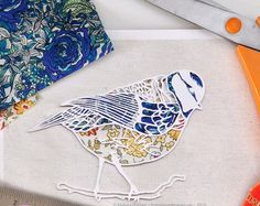 Bird print papercut art print robin by HolmesMadePapercuts
