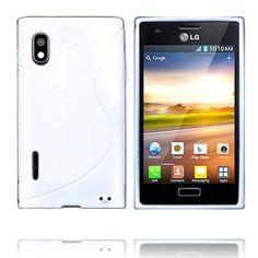 Solid S-Line (Hvit) LG Optimus L5 E610 Deksel