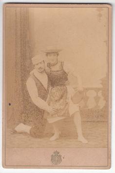 FORM. GABINET.1880 C.A. BALLERINI IN POSA FOTO DI SCENA BY MONTABONE TORINO-1969