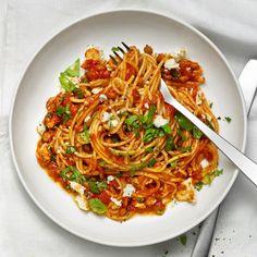 Spagetti med linser och tomatsås
