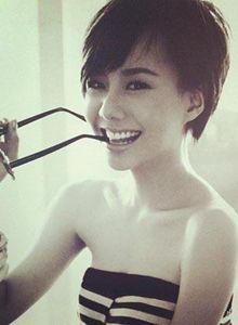 Short hair asian girl Toei Jarinpon (Thailand)