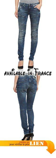 B00I5WU0VY : G-Star 5620 Custom - Jeans - Slim - Femme - Bleu (Comfort Malk Denim In Medium Aged) - W32/L34 (Taille fabricant: W32/L34).