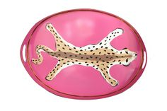 Design Chic - Oval Tray in Pink Leopard, $170.00 (http://www.shopdesignchic.com/oval-tray-in-pink-leopard/)
