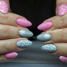 #mintyclaw #manicure #paznokcie #nailac #christmasnails #sniezynka #winternails #pinknails #zima @nailacuv