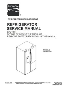 15 Best Kenmore Refrigerator Service Manual images in 2019 | Kenmore Kenmore Washer Wiring Diagram For Cloth on