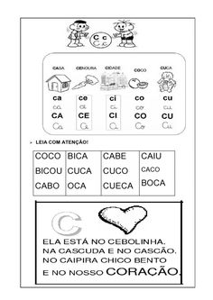 livro alfabetico silabas simples 06 Cabo, Math Equations, Activities, Education, 1, Gabriel, Places, Reading Activities, Letter B Activities