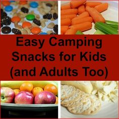 Choosing easy camping snacks kids and adults will love can be a bit challenging. So here are some snack ideas that will make your entire family happy.