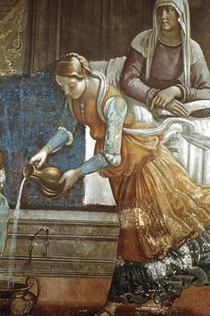 Ghirlandaio, Birth of Mary-detail by richardwhitfield80, via Flickr