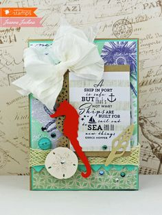 Created by Jeanne Jachna http://akeptlife.blogspot.com for Waltzingmouse Stamps featuring Safe Harbour Sentiments Stamp Set