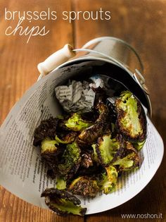 Brussels Sprouts Chips » I prefer these over kale chips, SO GOOD!