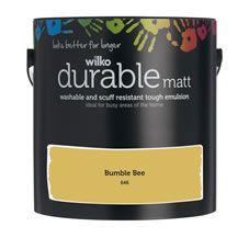 Wilko Durable Matt Emulsion Paint                 Bumble Bee 2.5L