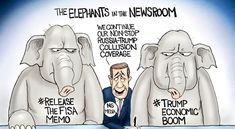 Elephants in the Newsroom - A.F. Branco Cartoon - Conservative Daily News