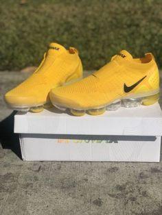 """e97e4ad3fa Nike Air VaporMax FK Moc 2 """"University Gold"""" Black Women's Sz 8 Nike Air"""