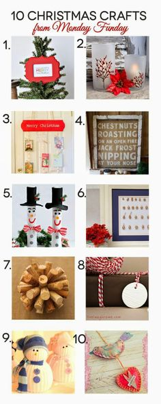 Christmas Craft Round up and Monday Funday Link Party | Tween Craft Ideas for Mom and Daughter