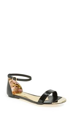 7eee97a68ebfe Ted Baker London  Ballena  Leather Sandal (Women) available at  Nordstrom  Leather