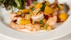 Cocktail sauce can wait. Drape sizzling shrimp in a sweet peach blend that's blushing with hot mustard and cumin.  /
