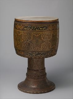Tombak  Date: late 19th century  Geography: Iran (Persia)  Culture: Persia  Medium: Various woods, bone, brass, skin
