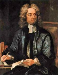 Jonathan Swift (November 1667 to October - Anglo-Irish satirist, essayist, political pamphleteer, poet and cleric who became Dean of St Patrick's Cathedral, Dublin. Literature Quiz, English Literature, Classic Literature, Classic Books, Pierce Brosnan, Book Writer, Book Authors, O Donnell, Modest Proposal