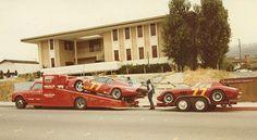Ferrari Private Race Transporter Ferrari Racing, Ferrari Car, F1 Racing, Road Racing, Vintage Sports Cars, Vintage Race Car, Le Mans, Maserati, Alfa Cars