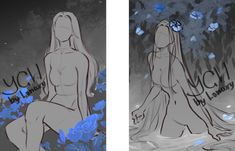 [Close] YCH Auction: flower dream by Lonary on DeviantArt Drawing Base, Figure Drawing, Dream Drawing, Art Sketches, Art Drawings, Poses References, Anime Poses, Drawing Reference Poses, Art Poses