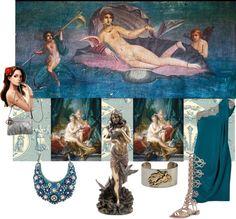 City chic Lifestyle: Aphrodite http://citychiclifestyle.blogspot.co.uk/2015/03/aphrodite.html  #aphrodite #fashion #art #marchesa #gucci #sandals #blue