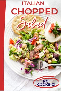 When you are looking for a fun way to liven up your salad game, this Italian Chopped Salad makes a welcome change! It is the perfect no fuss summer dinner that comes together in less time than it would take you to run out for carry out. Salad Recipes Holidays, Side Salad Recipes, Quinoa Salad Recipes, Summer Salad Recipes, Gluten Free Recipes For Breakfast, Healthy Gluten Free Recipes, Healthy Dinner Recipes, Italian Chopped Salad, Great Appetizers