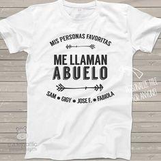 Camiseta ABUELO  mis personajes favoritas me llaman abuelo
