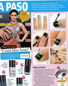 "Uñas ""blue heart"". #uñas #nailart #blueheart"