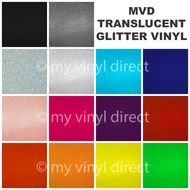 MVD Translucent Glitter Vinyl Sheets