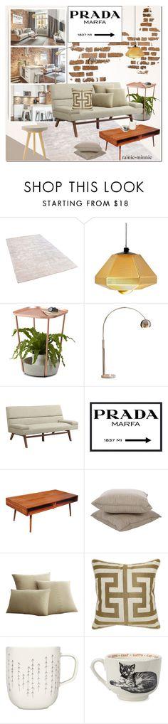 """Stylish Apartment"" by rainie-minnie ❤ liked on Polyvore featuring interior, interiors, interior design, home, home decor, interior decorating, Tom Dixon, Umbra, Ink & Ivy and Prada"