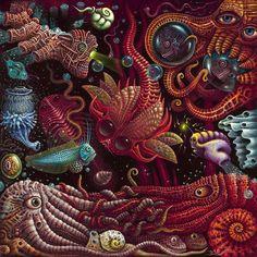 Crustaceapods byRobert Steven Connett - VISIONARY ART EXHIBITION