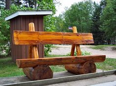 rustic benches | rustic log bench seats we have received the first two of our new ...