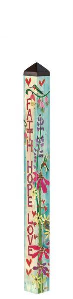 Faith, Hope, & Love Art Pole A Studio M exclusive, Art Poles are an impactful way to bring beauti Outdoor Art, Outdoor Decor, Outdoor Ideas, Outdoor Projects, Peace Pole, Garden Poles, Love Garden, Garden Ideas, Backyard Ideas