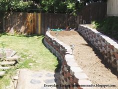DIY interlocking block retaining wall with step-by-step instructions