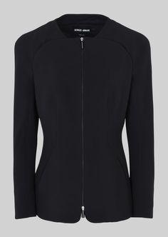 SINGLE-BREASTED SILK CADY JACKET: Fashion Jackets Women by Armani - 2