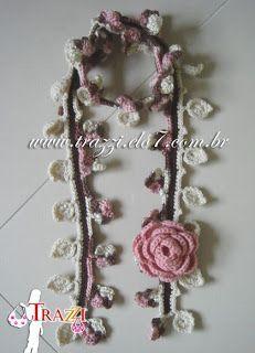 bufandas tejidas a crochet con flores - Buscar con Google