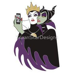 Grimhilde & Maleficent Selfie by SwanStarDesigns