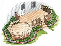 Awesome deck with seating