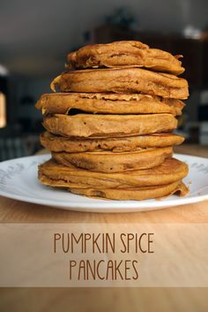 These pumpkin pancakes stuck to my ribs for hours. Theyre literally pumpkin cakes made on a pan. So good!