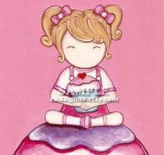 My lovely cupcake - blonde - Cute Nursery Arts for Girls Kids Toddler Children's Room or Kitchen Decor. $9.00, via Etsy.