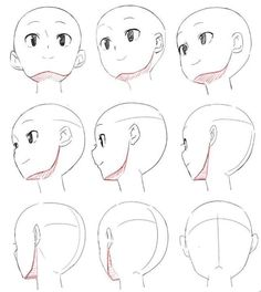 Different head view reference Manga Drawing Tutorials, Drawing Techniques, Drawing Sketches, Art Drawings, Drawing Tips, Male Figure Drawing, Figure Drawing Reference, Art Reference Poses, Drawing Heads
