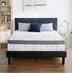 Gel infused memory foam regulates temperature while conforming to the body to ease pressure points Gel Mattress, Pillow Top Mattress, Queen Mattress, Full Size Sofa Bed, Full Size Mattress, Anthology Bedding, Queen Loft Beds, Mattress Springs, Living Room Sets