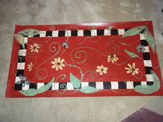 "Floor cloth about 33"" x 22"""